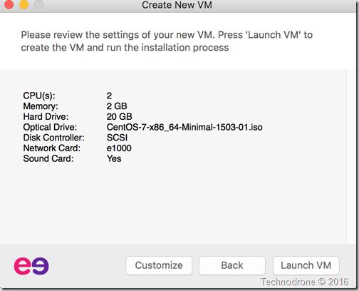 Launch VM