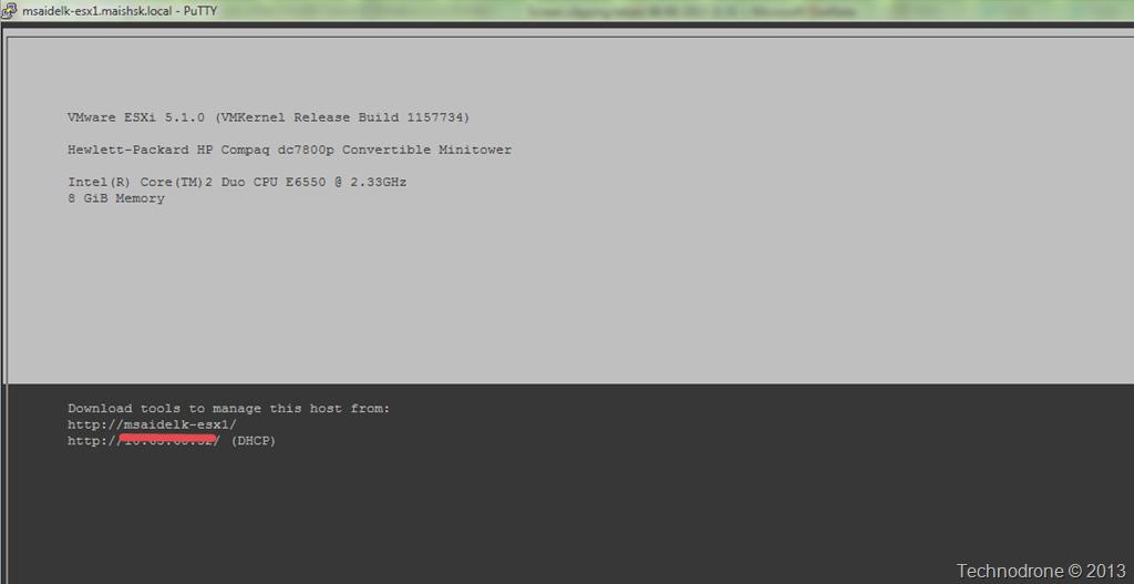 Access the DCUI from a Remote SSH Session | Technodrone