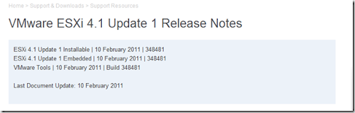 ESXi Release Notes
