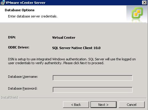 SQL Credentials