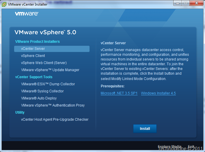 vCenter 5.0 Install