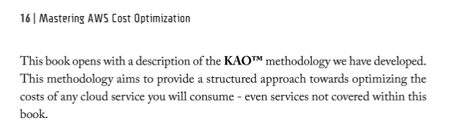 KAO Methodology