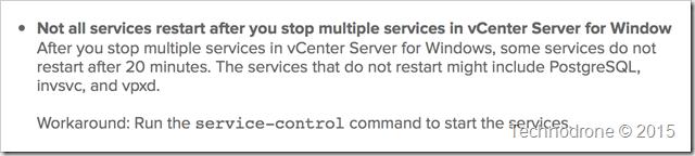 service restart