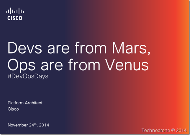 Devs are from Mars