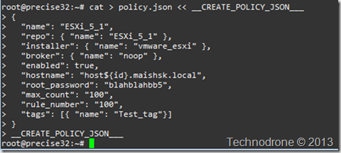 create policy.json