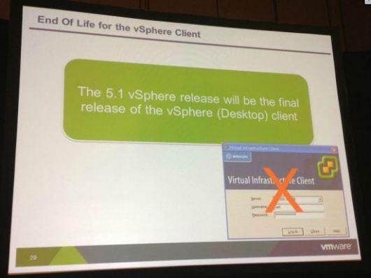 vSphere Client EOL