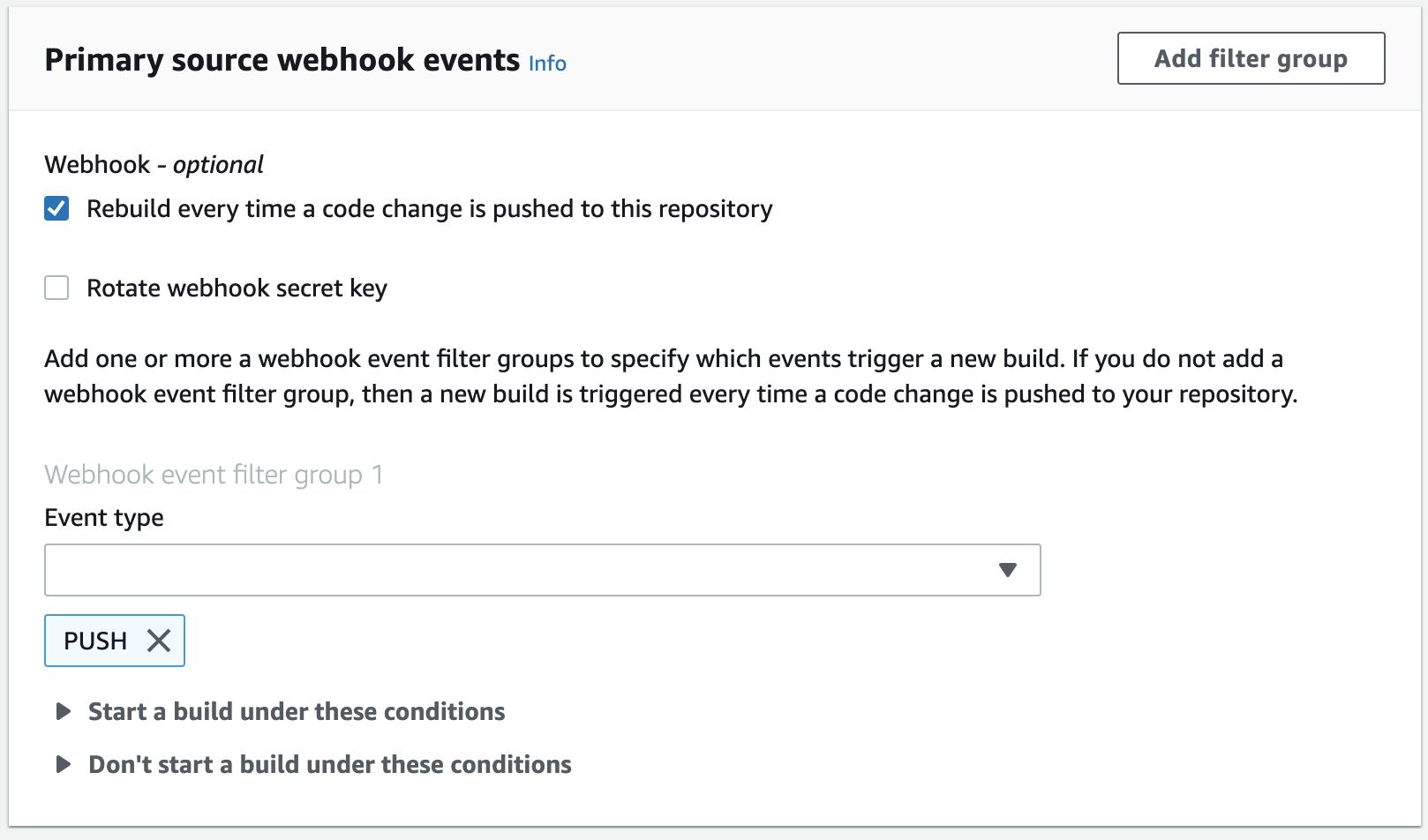CodeBuild Webhook