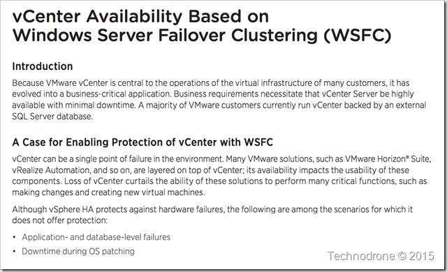WSFC availability